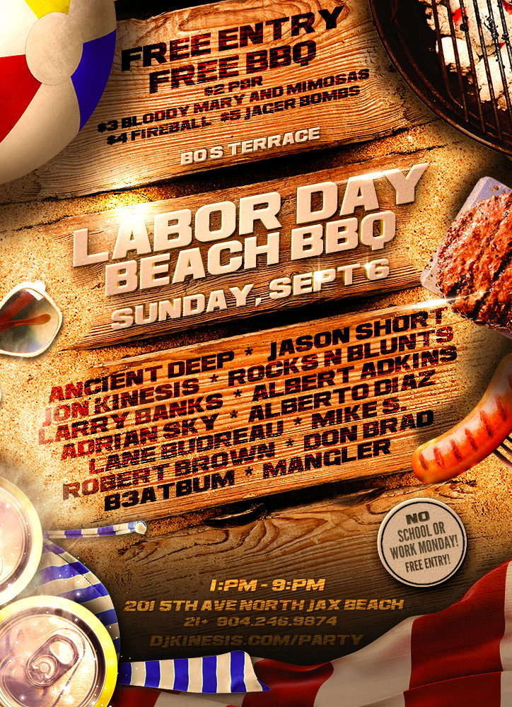 Labor Day Beach Party at Bo's Terrace